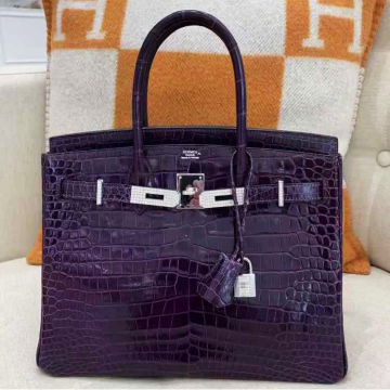 Hermes Birkin Crocodile with diamond 30cm